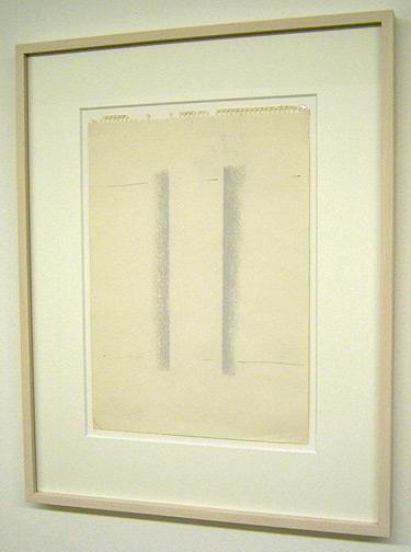 Fred Sandback / Untitled  1982 33.9 x 24 cm / 13 x 9.5