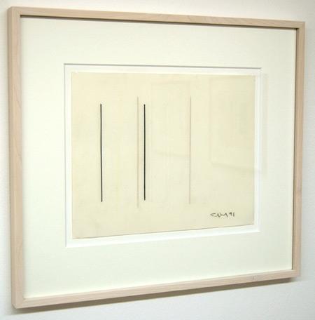 Fred Sandback / Untitled  1991 24.1 x 30.5 cm / 9.5 x 12