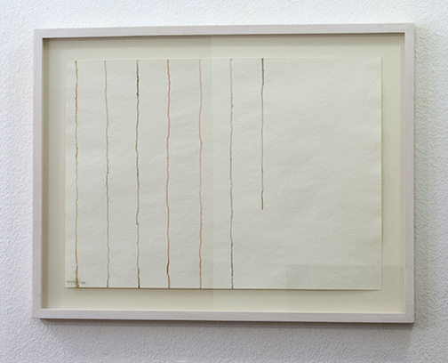 Giorgio Griffa / Untitled  1978  36 x 50 cm watercolor on paper