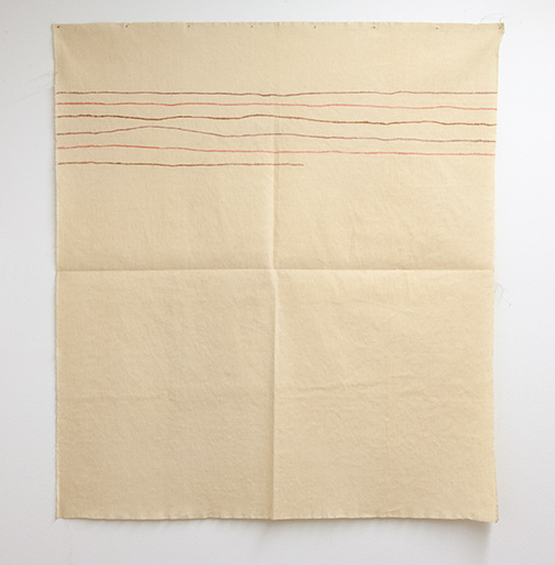 Giorgio Griffa / Linee orizzontali  1974  120 x 106 cm   acrylic on light canvas