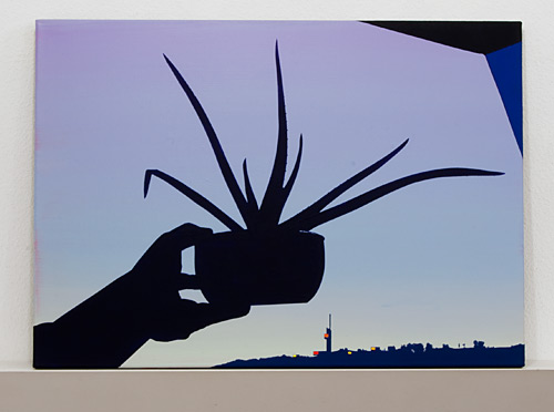 Glen Rubsamen / So endeth the lesson,  Rome 2009 50 x 70 cm acrylic on canvas