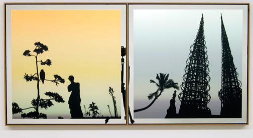 Glen Rubsamen / In Place of Love II  2010 72 x 143.5 cm digital image on mirror