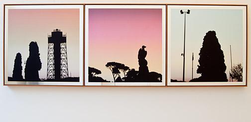 Glen Rubsamen / In Place of Love III  2010 72 x 215 cm digital image on mirror
