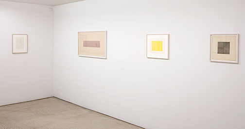 James Bishop,  				Antonio Calderara,  				Joseph Egan,  				Dan Flavin,  				Richard Francisco,  				Sol LeWitt,  				Robert Mangold,  				Agnes Martin,  				Sylvia Plimack-Mangold,  				David Rabinowitch,  				Fred Sandback,  				Richard Tuttle, Grids and Structures
