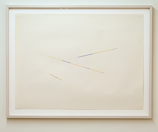 Fred Sandback / Fred Sandback Untitled  1986  56.7 x 76.5 cm pencil and color crayon on paper