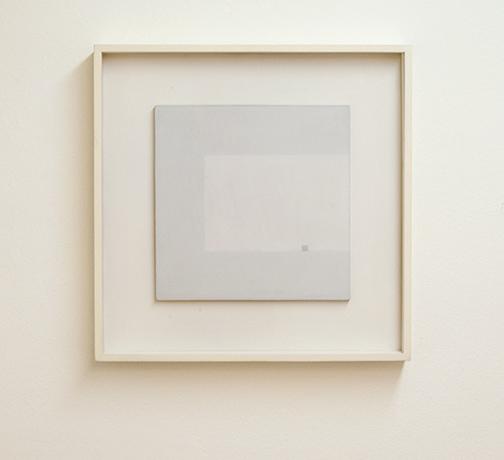 Antonio Calderara / Antonio Calderara Attrazione quadrata grigia in colore luce grigio  1964 -1965  27 x 27 cm oil on wood panel