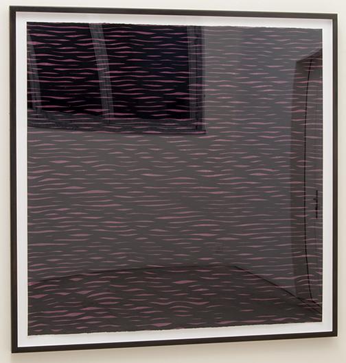 Sol LeWitt / Sol LeWitt Horizontal Lines, Black on Colors  2005  152.4 x 153.7 cm  gouache on paper