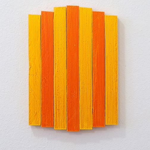 Joseph Egan / Joseph Egan heat  2013  33 x 23.5 x 3 cm Ölfarben auf Holz