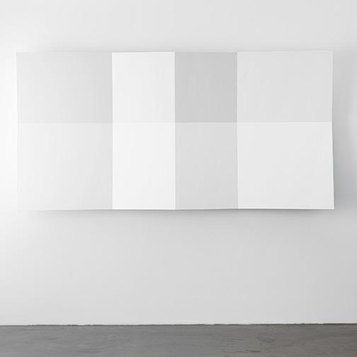 Andreas Christen / Andreaas Christen Ohne Titel   1999  120 x 240 x 23 cm MDF-Platte, weiss gespritzt