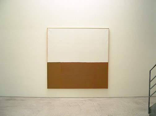 James Bishop / Untitled (Bank)  1974 195 x 195 cm Öl auf Leinwand