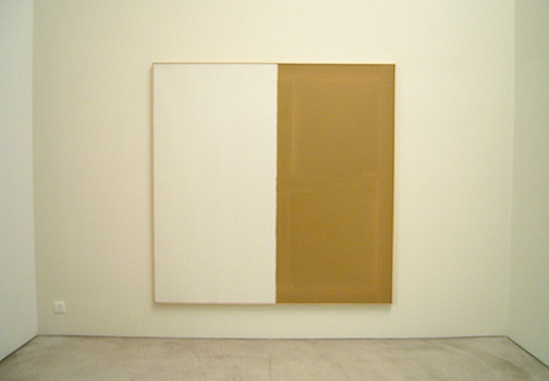 James Bishop / Untitled  1974 192,5 x 192,5 cm Öl auf Leinwand