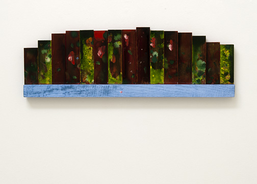 Joseph Egan / Bouquet  2001  22 x 67 x 3.5 cm oil paints on wood