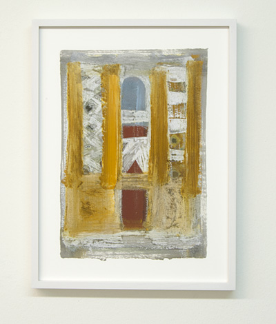 Joseph Egan / on Naxos Nr. 8  2010  30 x 21 cm framed: 38.5 x 29.5 x 2.5 cm various paints on paper