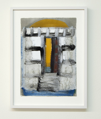 Joseph Egan / on Naxos Nr. 20  2010  30 x 21 cm framed: 38.5 x 29.5 x 2.5 cm various paints on paper