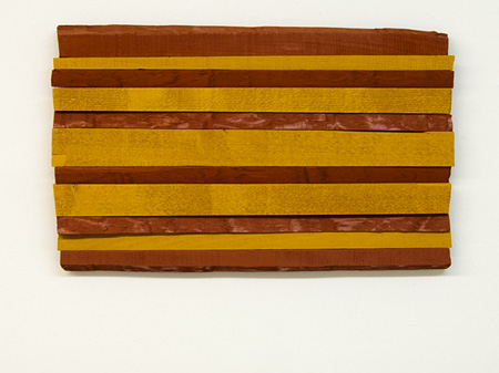 Joseph Egan / across the board Nr. 2 (Naxos)  2011  35 x 57 x 4 cm various paints on wood
