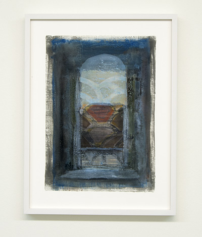 Joseph Egan / on Naxos Nr. 26  2010  30 x 21 cm framed: 38.5 x 29.5 x 2.5 cm various paints on paper