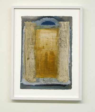 Joseph Egan / on Naxos Nr. 9  2010  30 x 21 cm framed: 38.5 x 29.5 x 2.5 cm various paints on paper