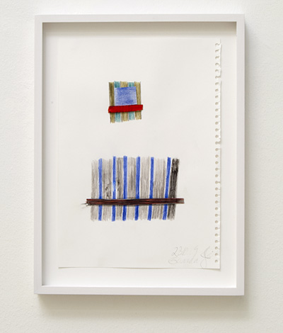 Joseph Egan / house and home Nr. 5  2009  29.7 x 21 cm framed: 36 x 27 x 2.5 cm colored pencil and collage on paper