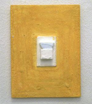 Joseph Egan / princess  2007  24 x 18 x 3.5 cm paints, sand and wood on canvasboard