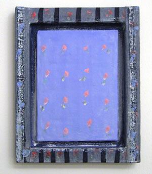 Joseph Egan / a climbing rose  2006  31 x 25 x 3 cm various paints and sand on wood