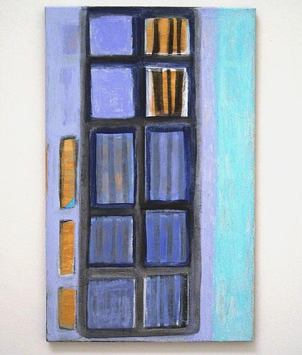 Joseph Egan / in a painting  2005 / 2007  80 x 50 x 2.5 cm various paints on canvas