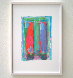 Joseph Egan / Colori #1  2007  35 x 25 x 2 cm various paints on paper with framing