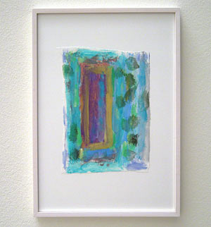 Joseph Egan / Colori #4  2007  35 x 25 x 2 cm various paints on paper with framing