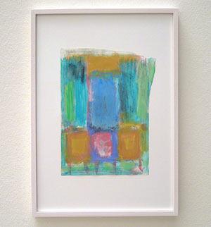 Joseph Egan / Colori #2  2007  35 x 25 x 2 cm various paints on paper with framing