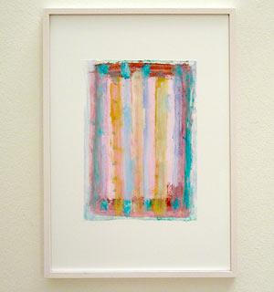 Joseph Egan /  Colori #3  2007  35 x 25 x 2 cm various paints on paper with framing