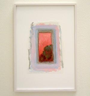 Joseph Egan / Colori #8  2007  35 x 25 x 2 cm various paints on paper with framing
