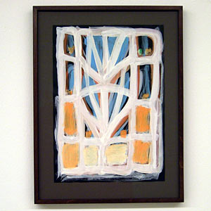 Joseph Egan / Dovecote #1  2007  37 x 28 x 2.5 cm various paints on paper with framing