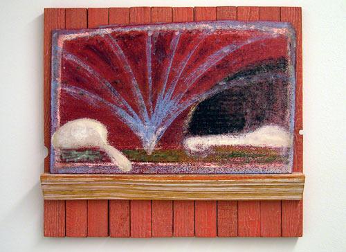 Joseph Egan / Die schöne Müllerin  2003 / 2008  (Franz Schubert gewidmet) 50 x 56 x 7.5 cm painted wood and painted panel