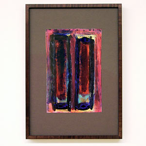 Joseph Egan / wine with friends #1  2007  31 x 22 x 2.5 cm various paints on paper with framing