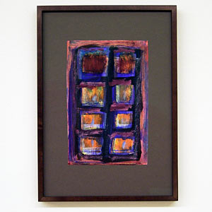 Joseph Egan / wine with friends #4  2007  31 x 22 x 2.5 cm various paints on paper with framing