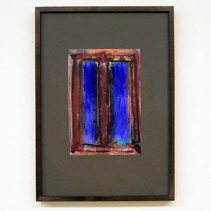 Joseph Egan / wine with friends #5  2007  31 x 22 x 2.5 cm various paints on paper with framing