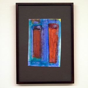 Joseph Egan / wine with friends #8  2007  31 x 22 x 2.5 cm various paints on paper with framing