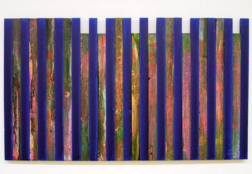 Joseph Egan / Night Flowers  2000 / 2007  74 x 128 x 3 cm various paints on wood