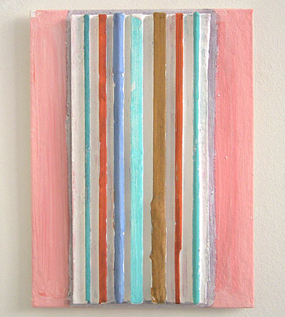 Joseph Egan / accord  2006  40 x 30 x 3.5 cm paints, sand and wood on canvasboard