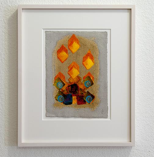 Joseph Egan / inner space Nr. 1  2017  35 x 29 x 2.5 cm oil paint on paper with framing