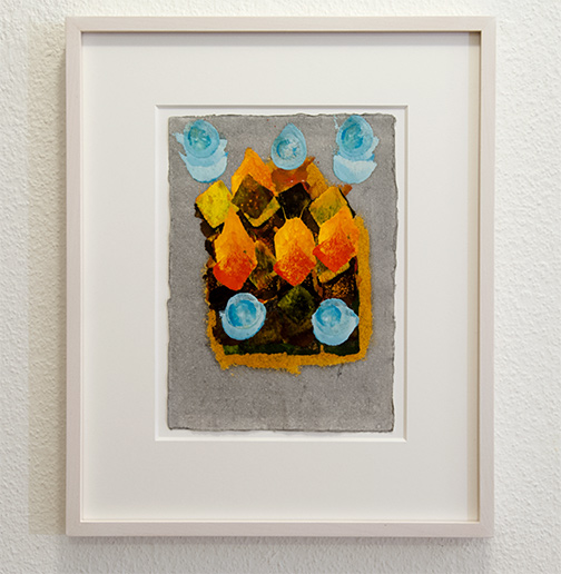Joseph Egan / inner space Nr. 3  2017  35 x 29 x 2.5 cm oil paint on paper with framing