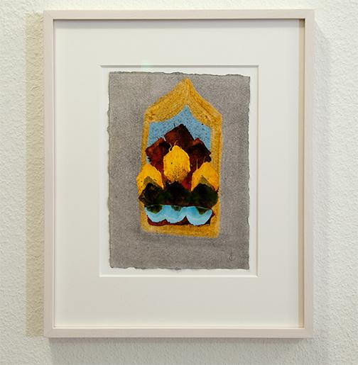 Joseph Egan / inner space Nr. 2  2017  35 x 29 x 2.5 cm oil paint on paper with framing