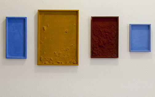 Joseph Egan / Egyptian Quartet (in 4 parts)200230 x 100 x 3 cmvarious paints, sand and stones on wood
