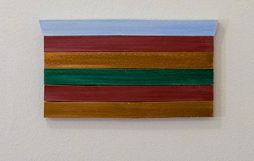 Joseph Egan / all on board2015 22 x 39.5 x 2.5 cmoil paints on wood