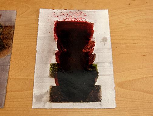 Joseph Egan / in wine (Nr. 10)2013 30 x 21 cmoil paint on paper
