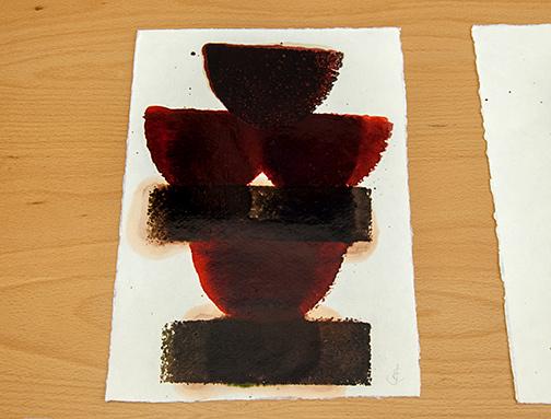 Joseph Egan / in wine (Nr. 11)2013 30 x 21 cmoil paint on paper