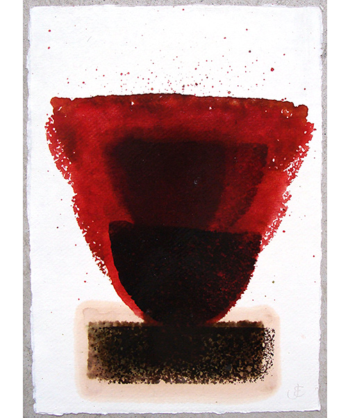 Joseph Egan / in wine (Nr. 8)  2013  30 x 21 cm oil paint on paper
