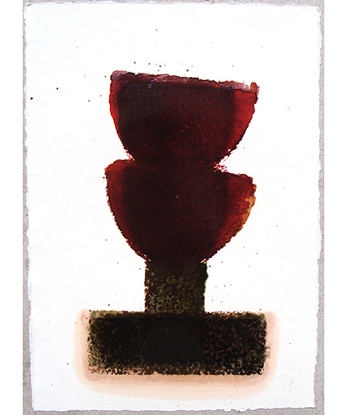 Joseph Egan / in wine (Nr. 7)  2013  30 x 21 cm oil paint on paper