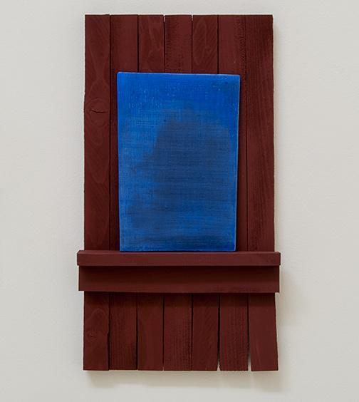 Joseph Egan / true blue2012 50 x 28 x 6 cmvarious paints on wood