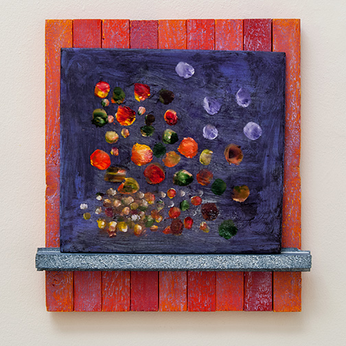 Joseph Egan / flowerpoint2012 40 x 37 x 5 cmpainted wood and painted panel