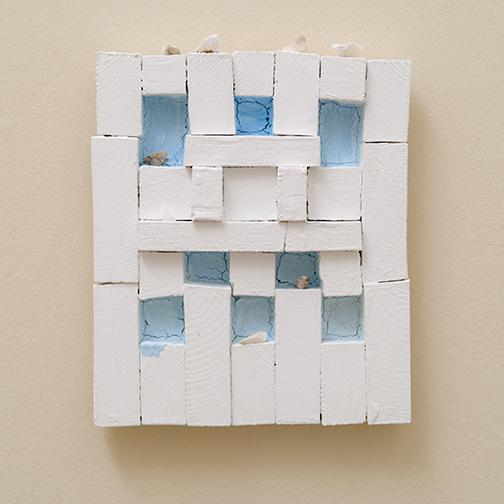 Joseph Egan / Dovecote (habitat)2009 32 x 27 x 5 cmvarious paints on wood with free elements